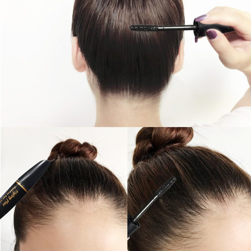 women holding hair finishing stick