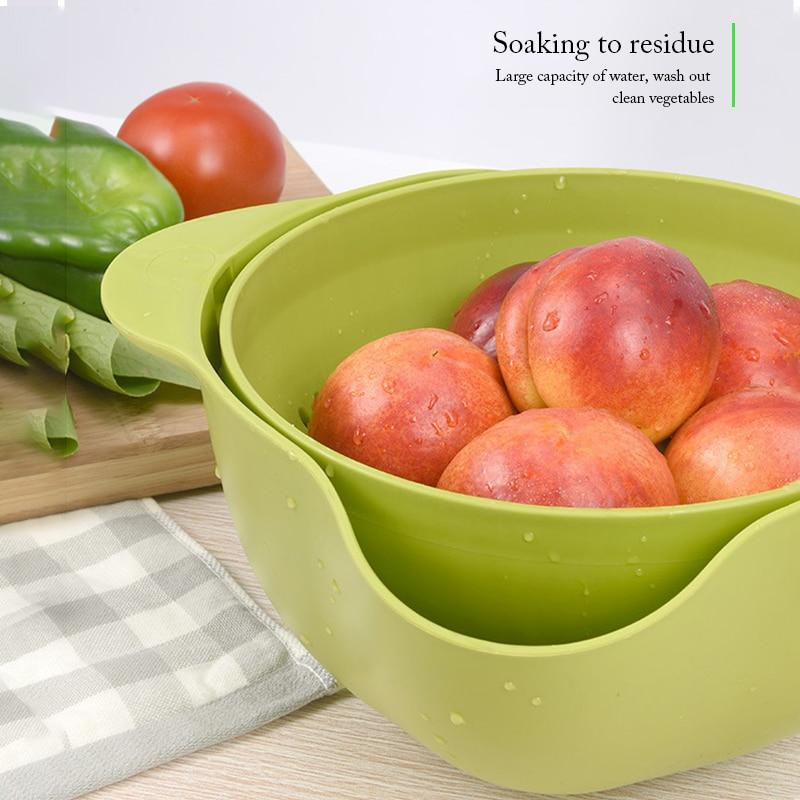 Multi-Functional Rotating Draining Colander