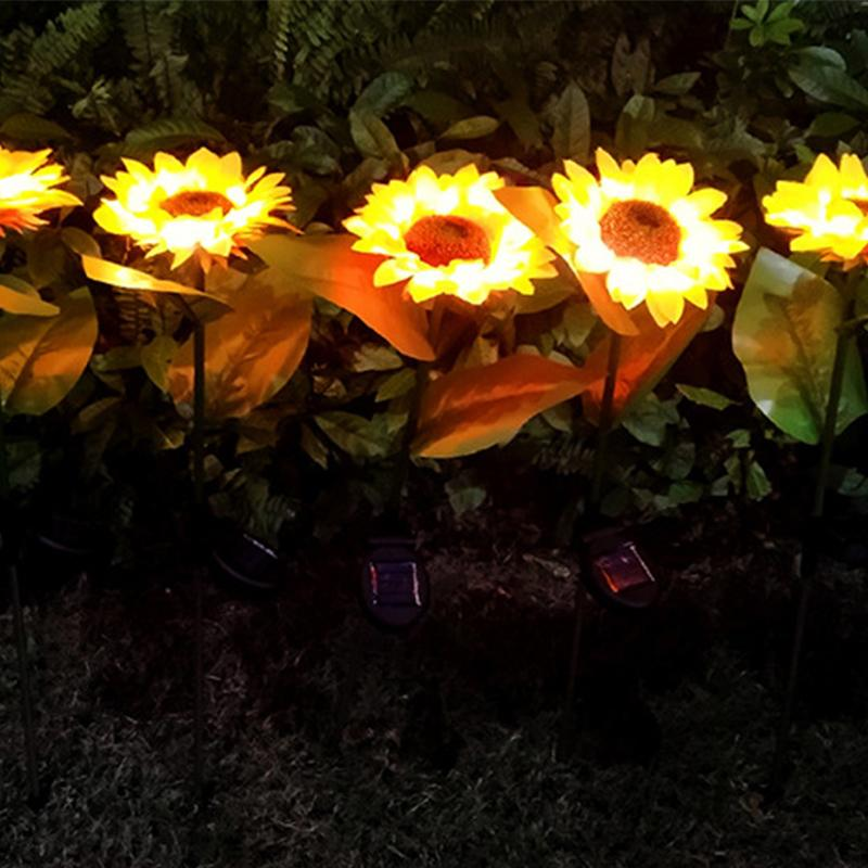 Solar Sunflower Light