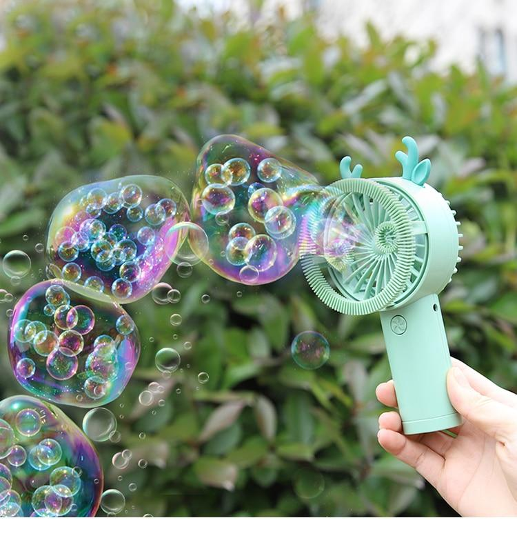 Mini Animal Shape Bubble Fan