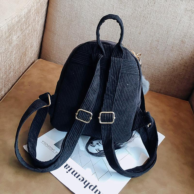 CUTE FASHION CORDUROY MINI BACKPACK [4 VARIANTS]