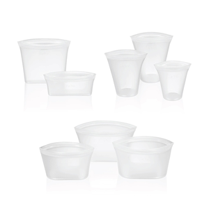 Reusable Zip Silicone Food Containers
