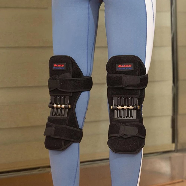 women standing with power knee stabilizer