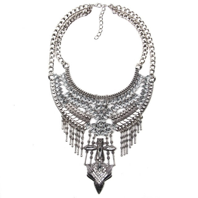 Buy Crystal Layer Statement Choker sharp teeth
