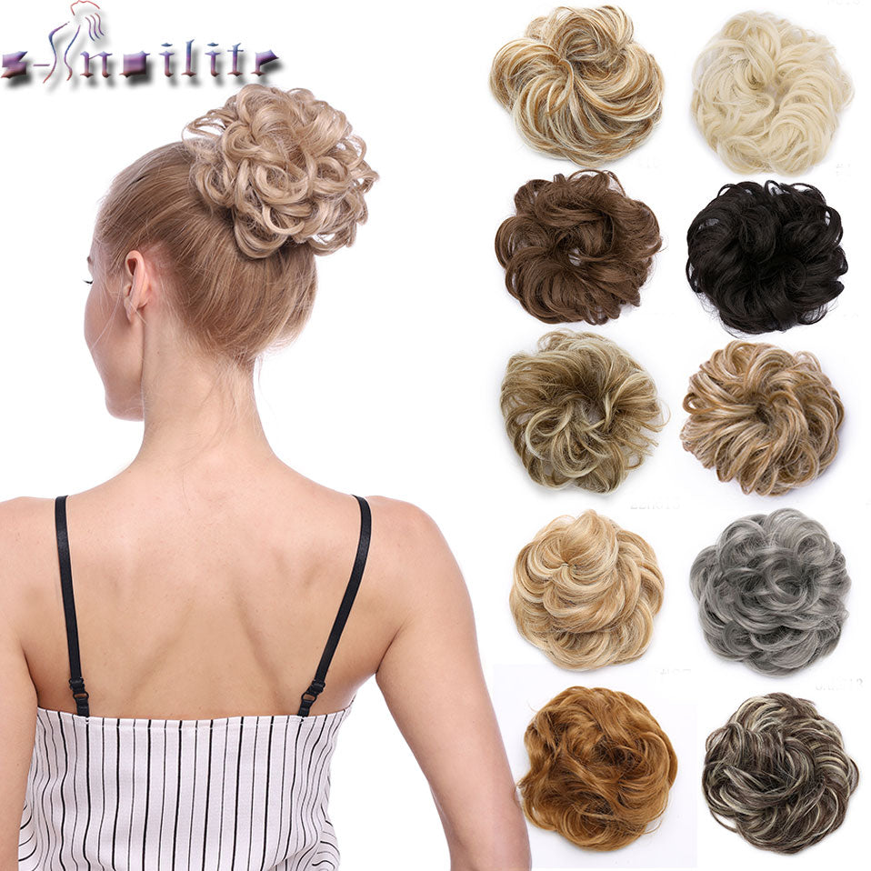 Rose Bun Hair Scrunchie