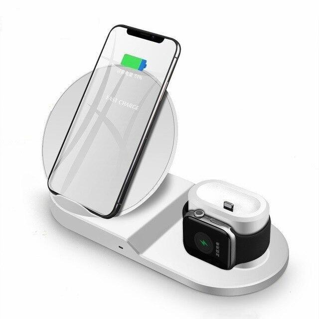 3 in 1 Fast Wireless Charger Dock Station