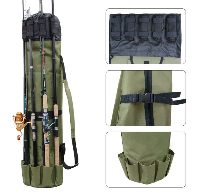 Portable Fishing Rod & Tackle Bag