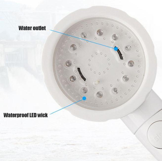 Colorful Temperature Control Shower Head