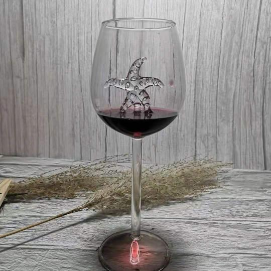 SHARK RED WINE GOBLET (Handmade)