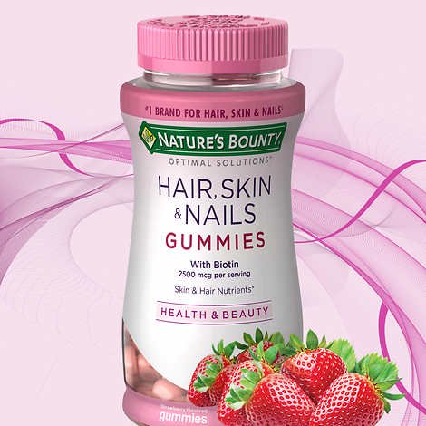 NATURE'S BOUNTY HAIR SKIN NAILS - 230 GOMAS (MORANGO)
