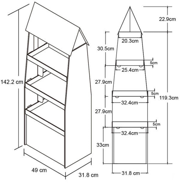 Roof-Shape-floor-stand-dims