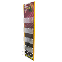 Cardboard Display of Sidekick/Hanging - Plastic Trays , Plastic Peg Hooks , Rope
