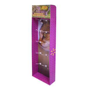 Cardboard Display of Sidekick/Hanging - Plastic Peg Hooks , Removable Header , Walmart size , S Hooks