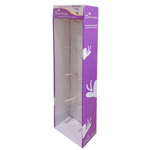 Cardboard Display of Sidekick/Hanging - Plastic Peg Hooks , Walmart size , S Hooks