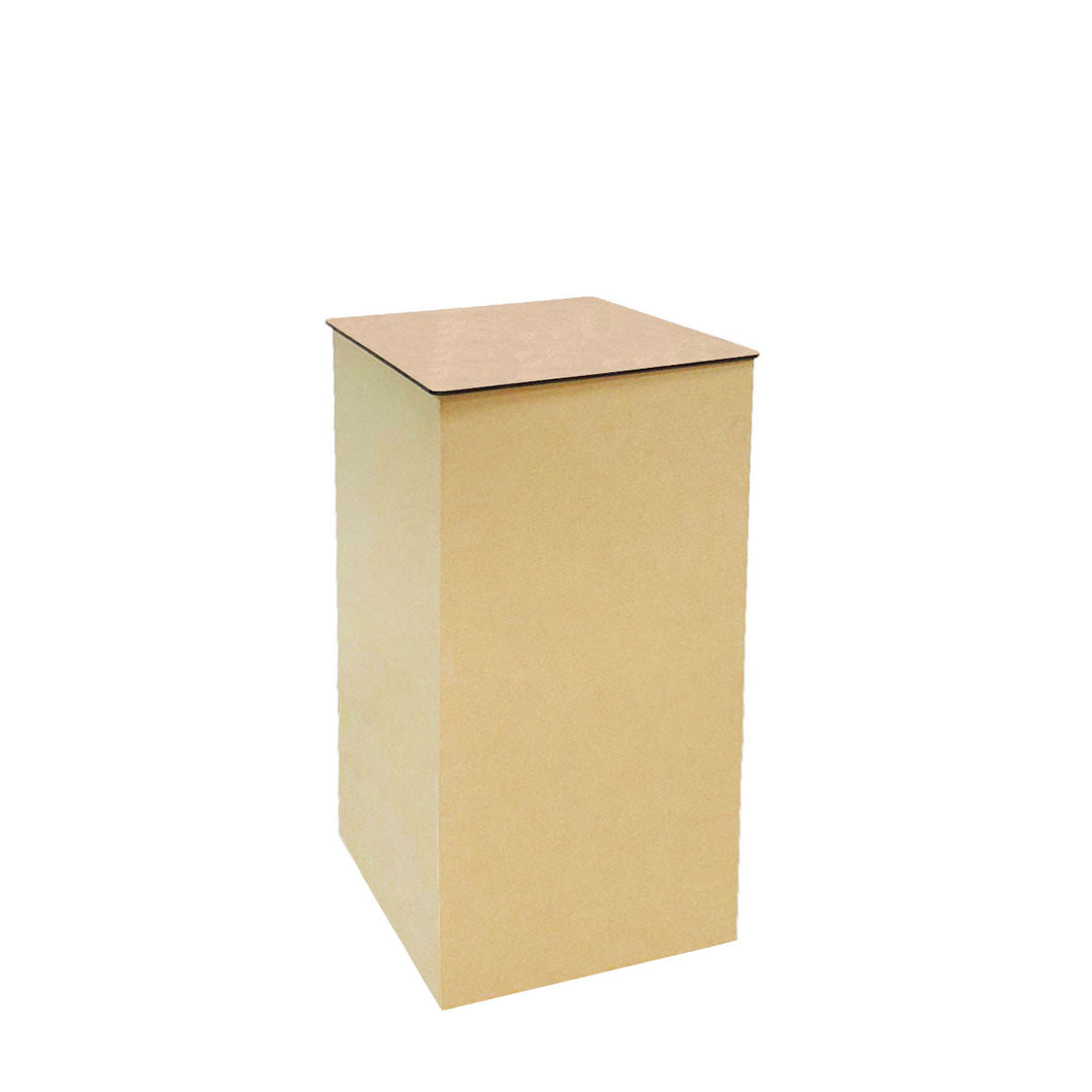 Cardboard Pillar Display Stand with MDF Top (70cm Height Square)