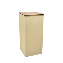 Cardboard Pillar Display Stand with MDF Top (80cm Height Square)
