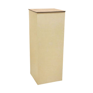 Cardboard Pillar Display Stand with MDF Top (100cm Height Square)