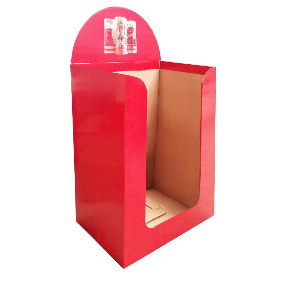 Cardboard Dump Bin for Floor, Deep open at front, 5pcs. Cardboard Stacking Partition