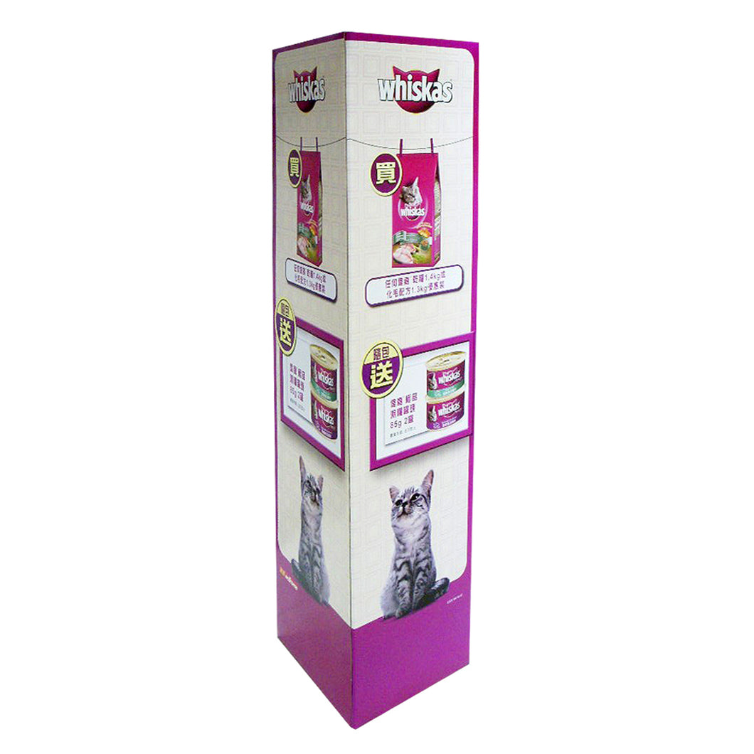 Cardboard Standee Display, L Shape Stand, Collapsible Design