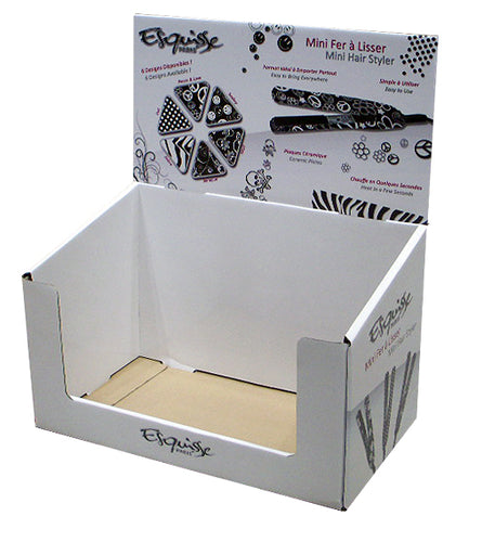 Cardboard beauty product Counter top Display with low front design