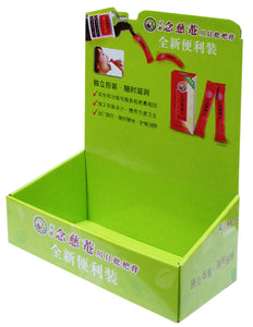 Cardboard  Counter top Display for Health products