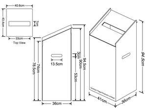 Cardboard Dump Bin for Floor, Slanted Top