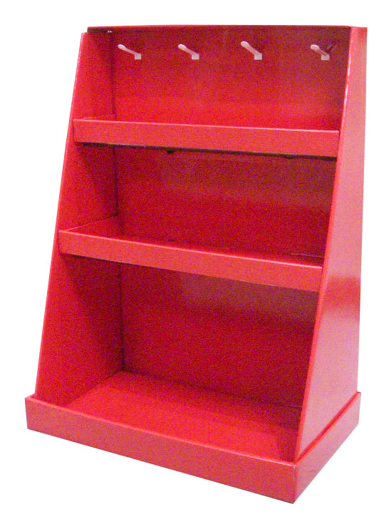 Cardboard Counter top Display with 3 Levels and Hooks