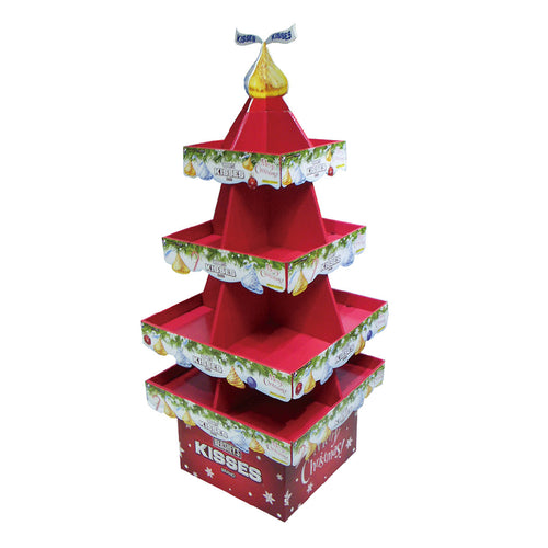 Floor standing Cardboard Display with 4 Shelves, 4 Sided - Full Colour