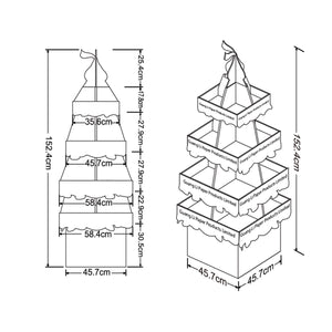 Floor standing Cardboard Display with 4 Shelves, 4 Sided - 4C