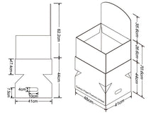 Cardboard Dump Bin for Floor, Removable Header, Stackable