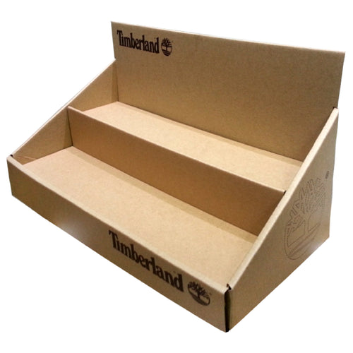 Cardboard  Sport Product Countertop Display, 2 Tiers,  removable Header