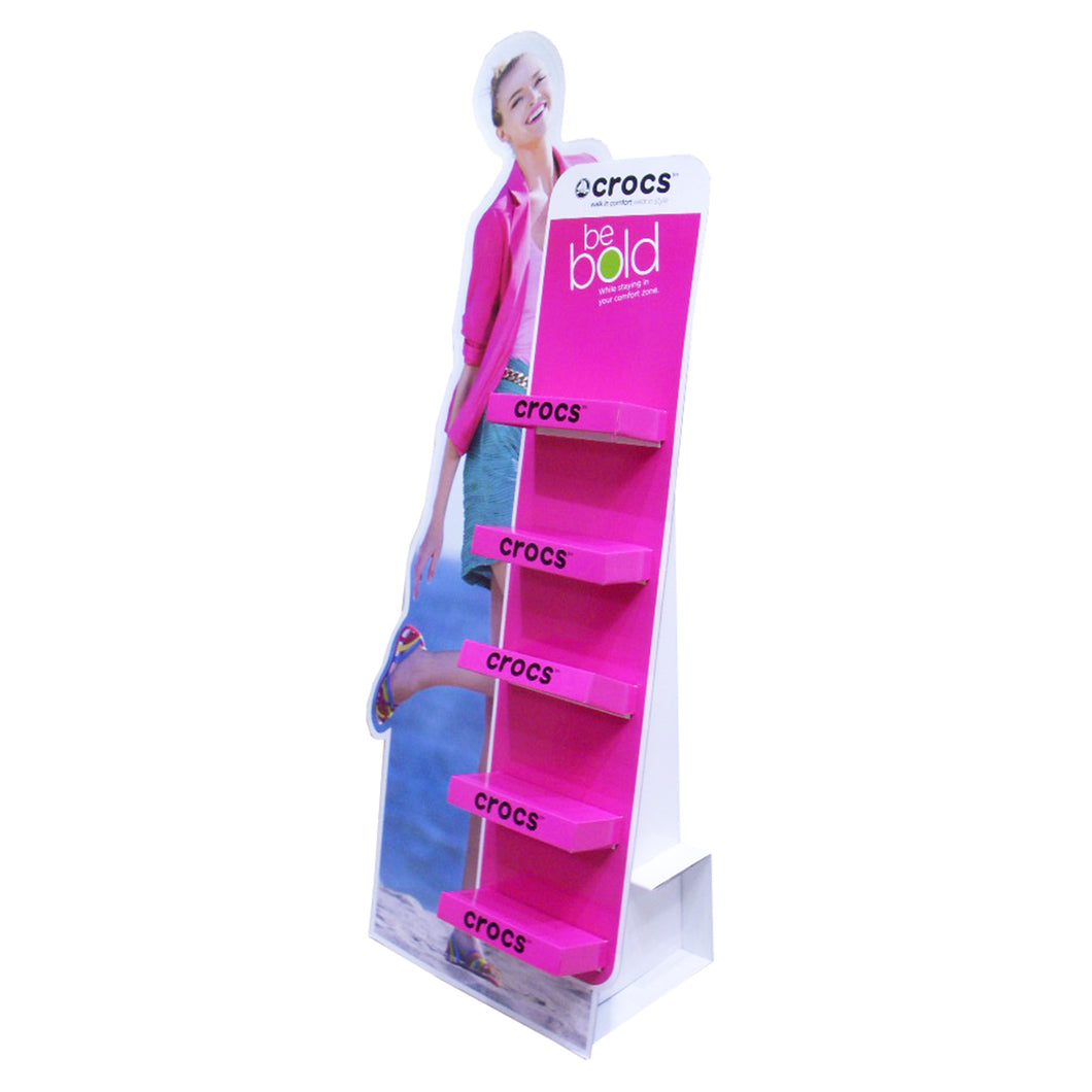 Cardboard Standee Display with 5 layers for shoes aside
