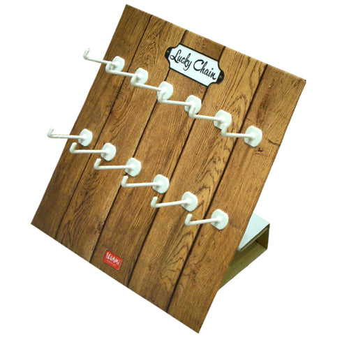 Cardboard Countertop Display, Twelve White Peg Hooks