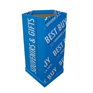 Cardboard Dump Bin for Floor,  Pentagon