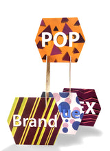 Hexagon board promotion Display - For exhibition or Window Display for POS