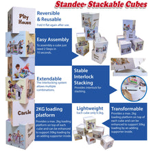Cardboard Standee Stackable Cubes, Extendable, Transformable