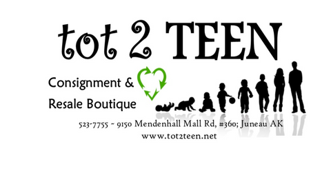 Business Card - Tot2Teen - Juneau, Alaska - Provided by Katherine Torrence