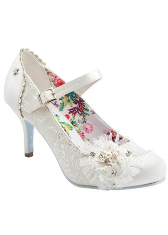 Joe Browns Couture Hitched Court 50's Pumps Ivoor