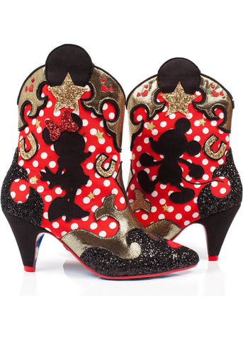 Irregular Choice Disney Mickey Mouse Hot Diggety Dog Cowboy Laarsje