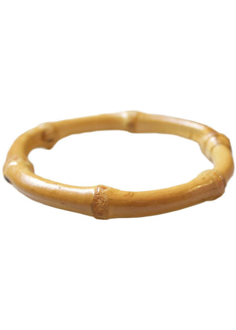 Collectif Tiki Round Bamboo Bangle Naturel