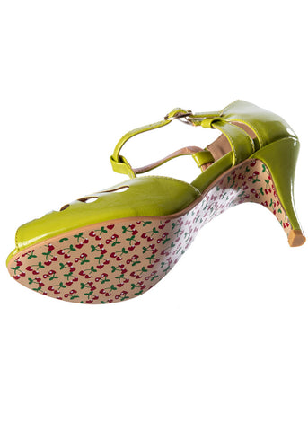 Banned Secret Love 50's Pumps Olijf Groen