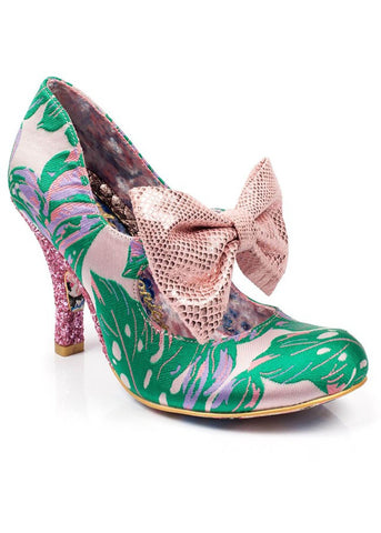 Irregular Choice Windsor Pumps Groen met Roze