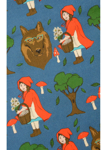 Run and Fly Red Riding Hood 50's Jurk Blauw