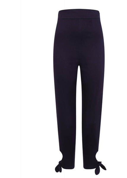 Collectif Anna 50's Capri Broek Navy