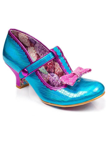 Irregular Choice Lazy River Pumps Blauw Multi