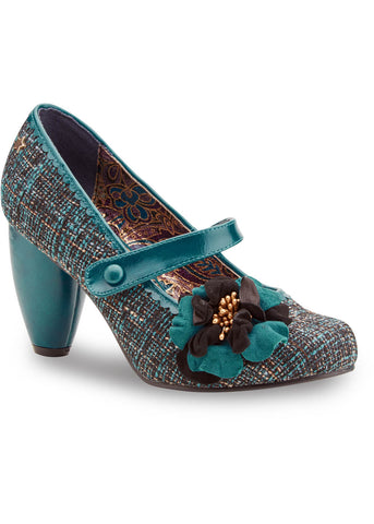 Joe Browns Couture Rosalind Tweed 60's Pumps Teal