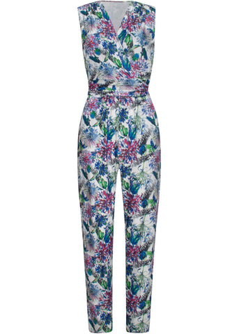 Smashed Lemon Secret Garden 70's Jumpsuit Wit Paars