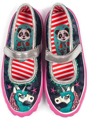 Irregular Choice Kids Mini Reins Schoenen Navy