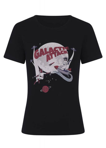 Collectif Galactic Attack T-Shirt Zwart
