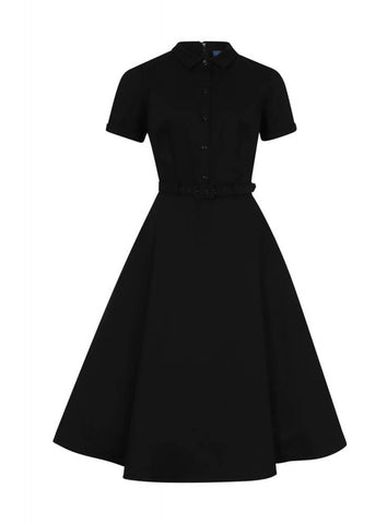 Collectif Keira 50's Swing Jurk Zwart